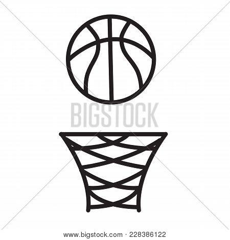 Basketball Rim Icon On White Background. Basketball Rim Sign. Flat Style.