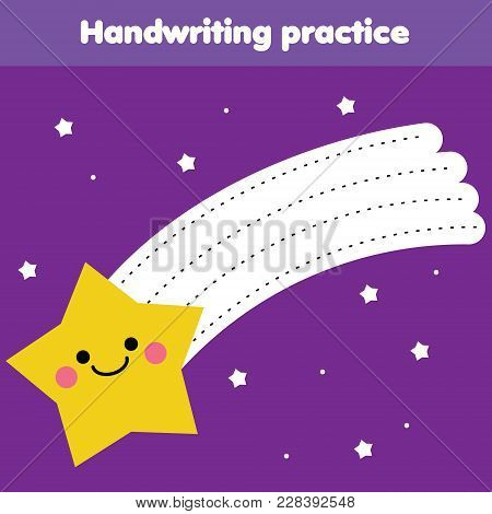 Tracing Lines For Toddlers. Handwriting Practice Sheet. Educational Children Game, Printable Workshe