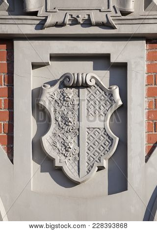 Coat Of Arms On The Front Of The House Of The Blackheads In Riga, Latvia