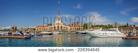 Sochi, Russia - May 21, 2016: Water Area Of The Seaport.