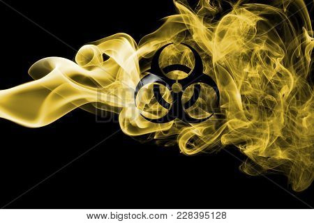 Biohazard Smoke Sign On A Black Background