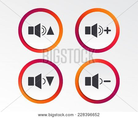 Player Control Icons. Sound Louder And Quieter Signs. Dynamic Symbol. Infographic Design Buttons. Ci