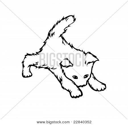 Cute cat (vector)
