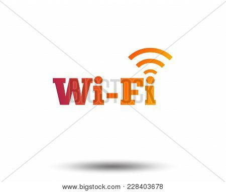 Free Wifi Sign. Wifi Symbol. Wireless Network Icon. Wifi Zone. Blurred Gradient Design Element. Vivi