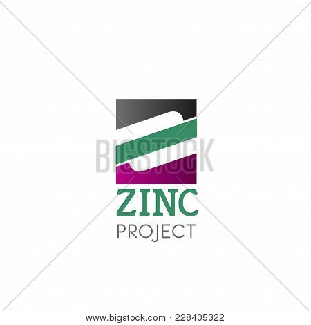 Symbol Zink Vector Logo. Abstract Brand Logo For Zinc Project. Mineral Complex Design. Abstract Sign