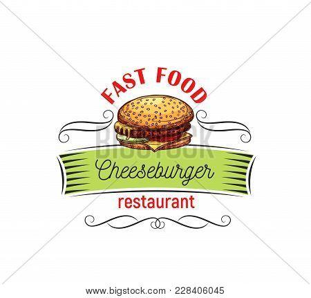 Appetizing Cheeseburger Fast Food Vector Photo Bigstock