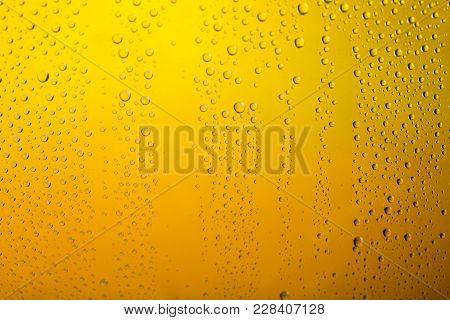 Yellow Bubbles Beer Bar Background Nobody Close-up