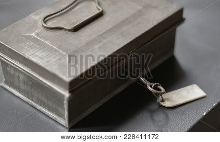 Secret Chest With Key Lock: Vintage Object To Keep Secrets And Values.