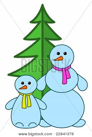Snowballs with fur-tree