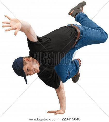 Young Man Dance Man Face Color White Blue