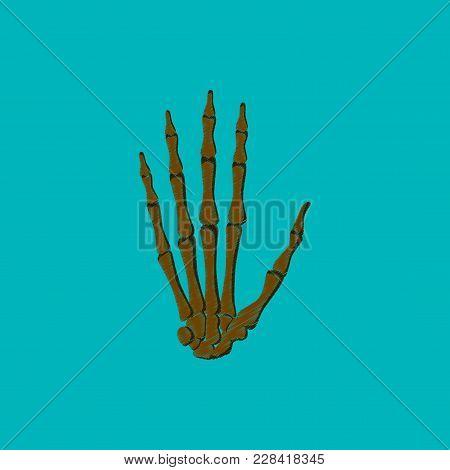 Flat Shading Style Icon Wrist Bone Medical