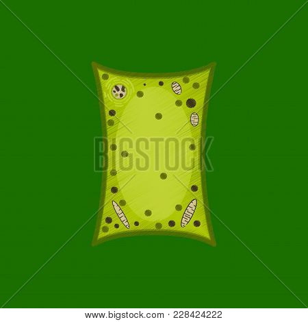 Flat Shading Style Icon Plant Cell Medical Care