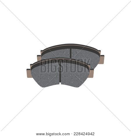 Vector Brake Pads Isolated. Vector Illustration Eps 10