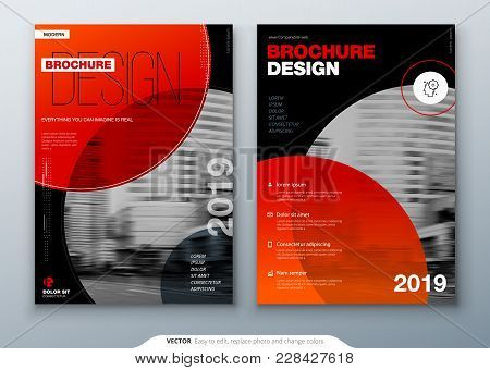 Brochure Template Layout, Cover Design Annual Report, Magazine, Flyer Or Booklet In A4 With Color Ci