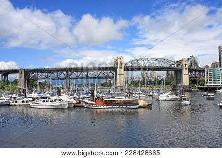Burrard Street Bridge From Granville Island, Vancouver