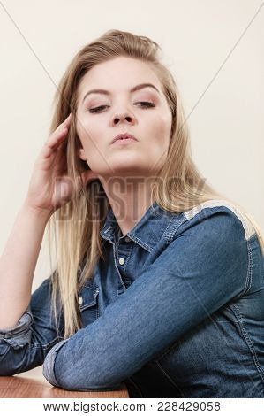 Woman Being Uncertainty Skeptical Questioning Something And Gesturing Having Disgusted Face Expressi