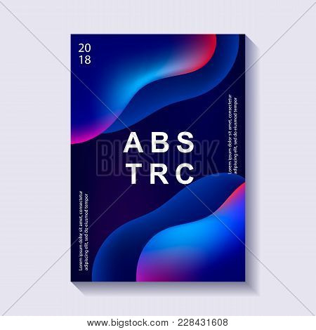 Creative Design Poster With Plastic Shapes. Modern Style Abstraction Background. Abstract Background