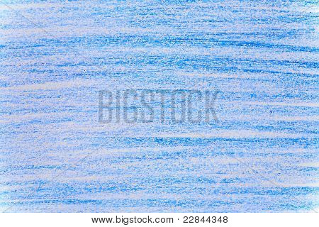 Blue Crayon Background