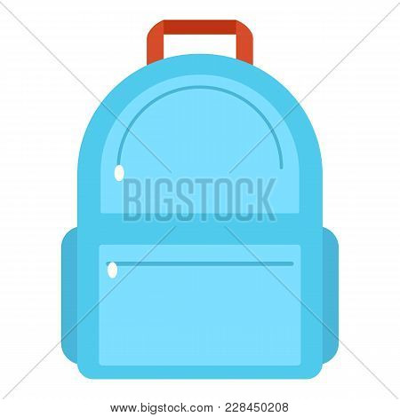Backpack Icon. Flat Illustration Of Backpack Icon For Web