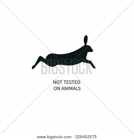 Icon Not Tested On Animals. Running, Jumping Hare, Rabbit, Banny Vector Illustration