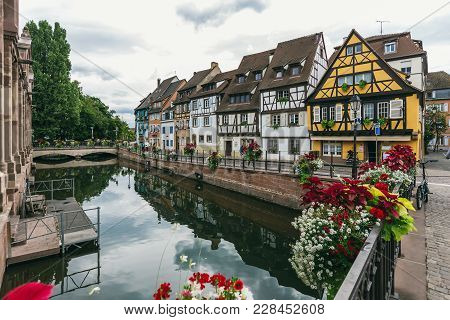 Colmar Is A City In The Grand Est Region In North-eastern France. On The Cobbled Streets Of The Old