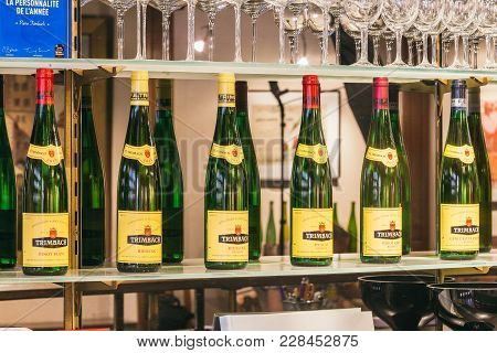 Empty Old Bottles Of Trimbach