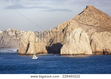 The Scenic View Of Eroded Rocks In Cabo San Lucas Resort Town (mexico).