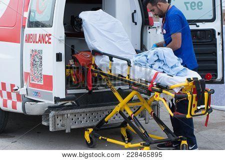 Ambulance In Janadriyah Festival Essay February 23, 2018 In Riyadh, Saudi Arabia