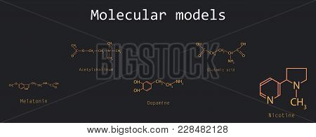 Chemical Formulas Of Food And Cosmetic Preservatives: Parabens, Sorbic, Benzoic, Salicylic, Formic,