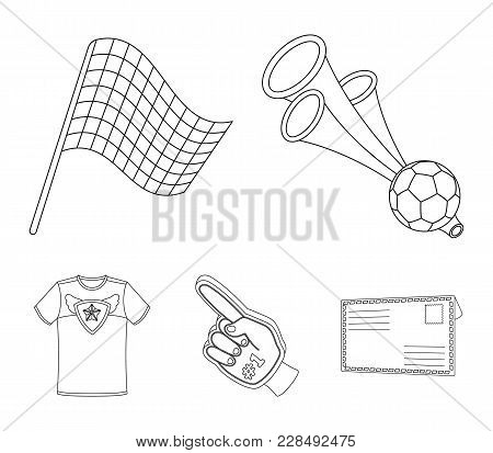 Pipe, Uniform And Other Attributes Of The Fans.fans Set Collection Icons In Outline Style Vector Sym