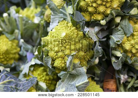 Romanesco Broccoli For Sale At A Market
