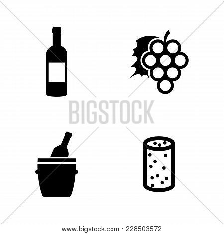 Wine Making. Simple Related Vector Icons Set For Video, Mobile Apps, Web Sites, Print Projects And Y