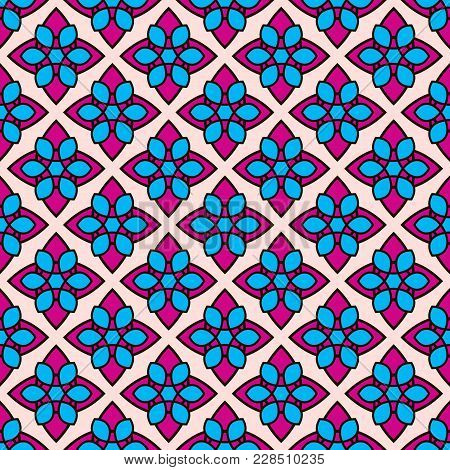 Decorative Pattern With Abstract Details . Vector Seamless Texture.for Printing On Packaging, Textil