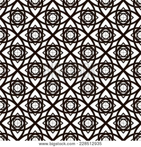 Decorative Pattern With Abstract Details. Vector Seamless Texture.for Printing On Packaging, Textile