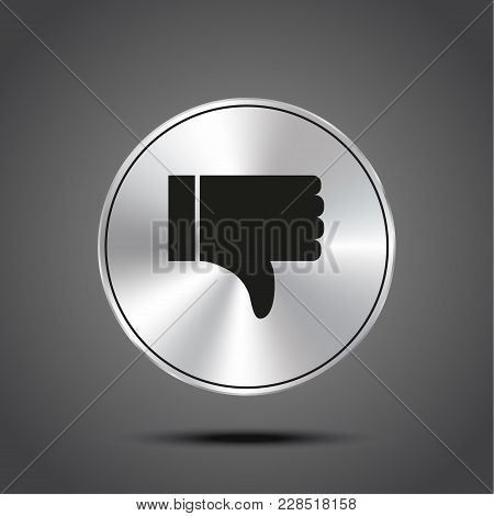 Like Icon Vector, Symbol Like, Sign Like Vector, Metallic Isolated On Dark Background Eps 10