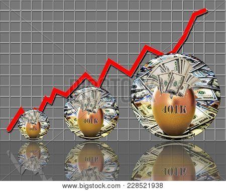 401k Golden Nest Egg Rising To The Top.
