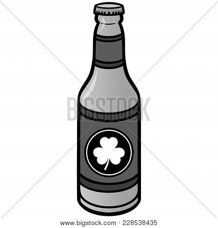 Irish Beer Bottle Illustration - A Vector Cartoon Illustration Of A Irish Beer Bottle.