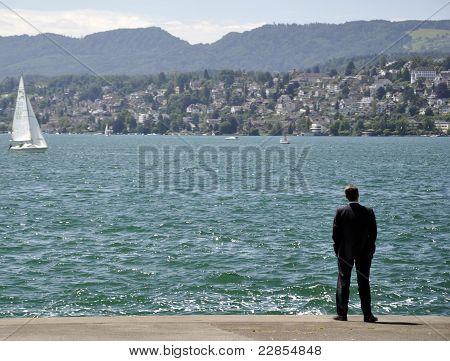 Businessman In Lake