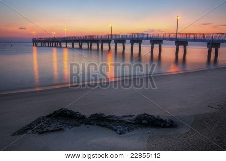 Woodland Beach Fishing Pier Dawn