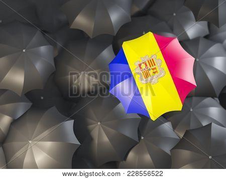 Umbrella With Flag Of Andorra