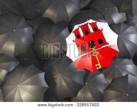 Umbrella With Flag Of Gibraltar