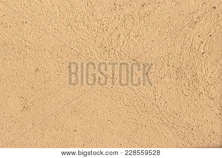 Texture Of Stucco.  Beige Wall Texture Background. Beige Or Light Brown Decorative Plaster, Seamless
