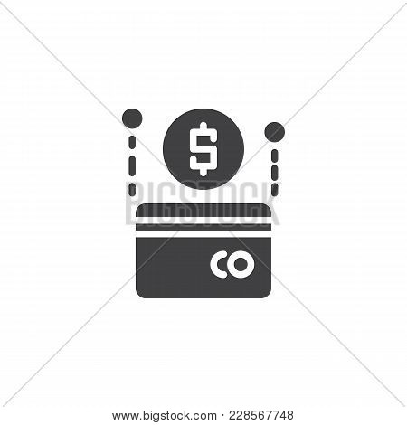 Dollar Credit Card Vector Icon. Filled Flat Sign For Mobile Concept And Web Design. Payment Method S