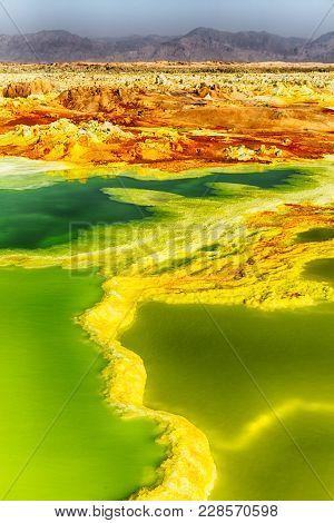 Africa  The Volcanic Depression  Of Dallol