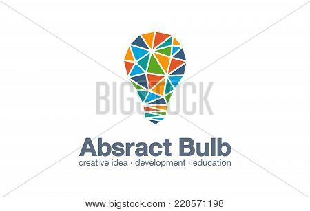 Abstract Business Company Logo. Corporate Identity Design Element. Light Bulb Idea, Education, Schoo
