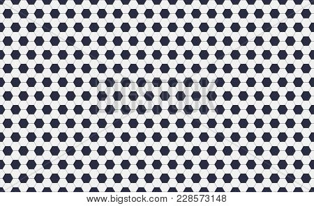 Seamless Pattern Of Soccer Or Football With Black And White Hexagons. Horizontal, Traditional Sport