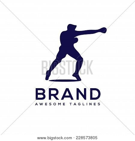 Silhouette Boxing Club Logo Vector,  Boxing Fight Logo , Boxing Club T Shirt, Fight Brutal Theme, Bo