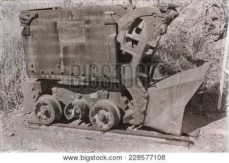 In  Australia   The Old And Rusted Mining Cart