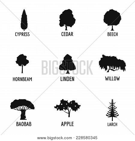 Wood Industry Icons Set. Simple Set Of 9 Wood Industry Vector Icons For Web Isolated On White Backgr