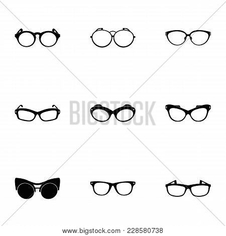 Protective Eyewear Icons Set. Simple Set Of 9 Protective Eyewear Vector Icons For Web Isolated On Wh